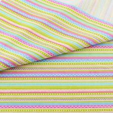 1 Pc Cute Stripe Cotton Fabric Home Textile Decor Bedding Clothing Quilting Patc