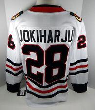 New Men Chicago Blackhawks Henri Jokiharju #28 Fanatics White Jersey