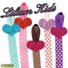 Hair Bow Hanger/Holders/Ribbons - Heart & Polka Dot Design - 66cm Long
