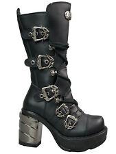 Demonia Stiefel Sinister Sin203 Boot Metallabsatz Gothic High Heel Plateau #5003