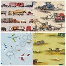 Rasch transport papier peint construction tracteur véhicules enfants chambre wall decor