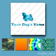 Custom Puli Dog Name Decal Sticker - 25 Printed Fills - 6 Fonts