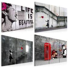 LEINWAND BILDER Banksy Abstrakt Graffiti WANDBILDER xxl Wohnzimmer KUNSTDRUCK