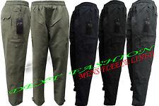 Elástico Para Hombre polar forrado térmico de carga de invierno cálido Comfy Pantalones Pantalones