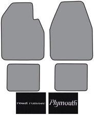 1974-1975 Plymouth Roadrunner Cutpile Carpet Logo Floor Mat 4pc