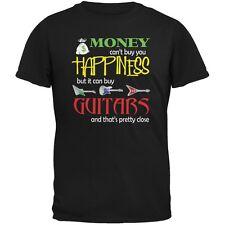 Money Happiness Guitars Funny Black Adult T-Shirt