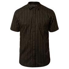 "Fox Head Racing ""Branam Stripe"" Short Sleeve Woven Shirt (BK) Men's Dress Top"