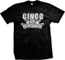 Cinco De Drinko Mayo Drinking Alcohol Tequila Holiday Funny Humor Mens T-shirt