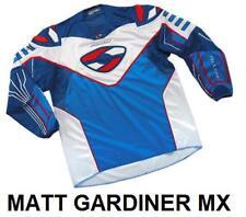 ALLOY MX MOTOCROSS BIKE JERSEY SHIRT 04 SX BLUE / WHITE / NAVY / RED SMALL