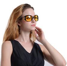 Italy Design Womens Night Vision Goggles Driving Glasses Polarized Sunglasses
