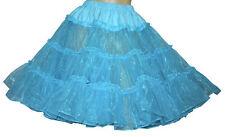 AQUA BLUE SQUARE DANCE CRINLOLINE POODLE SKIRT SZ L/2X
