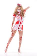 Sexy Adult Halloween Zombie Bloodbath Betty Nurse Costume w Blood Stains