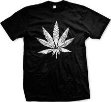 Big Pot Leaf Marijuana Weed 420 Ganja Smoke Toke Dank Kush Reefer Mens T-shirt