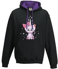 Capucha eatshirt Sudadera con capucha Suéter De Mujer lila púrpura Kittykorn