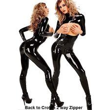 Women's WETLOOK Bra Less Sexy Lingerie Catsuit MS Fancy Costume jumpsuit XXL