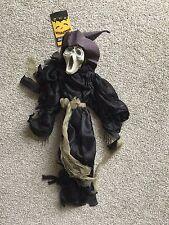 Halloween Hanging habillée Squelette-Noir/Blanc/Vert Effrayant Party Fun