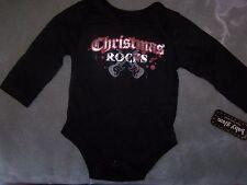 Baby Glam Christmas Rocks Onesie Creeper Bodysuit ~ NWT