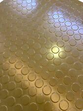 Pavimento in gomma antiolio colore oro sp. 2,5 mm