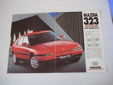 advertising Pubblicità 1992 MAZDA 323