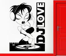Wall Sticker Vinyl Decal DJ Music Night Club Hot Girl Cool Living Room  (z2413)