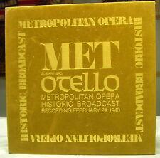Metropolitan Opera Historic Broadcast Otello NM 3 LP Bx
