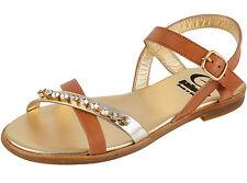 Gallucci j00825am filles femmes sandales cuir gold cognac marron taille 33 - 41 NEUF