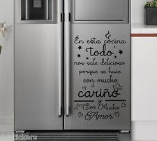 Vinilo decorativo #731# LA COCINA Y EL CARIÑO stickers pegatinas
