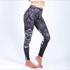 Fashion Legging Retro Lotus Printed Legging S-XL Wide Belt Legging