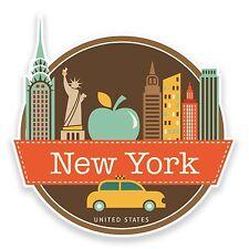 2 X New York Usa Adhesivos De Vinilo De Laptop Viaje Regalo equipaje coche Maleta # 9208