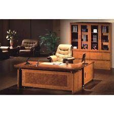 Senato Large Executive office desk 3 piece set Two Tone Yew 1.8m or 2.0m DE-1860