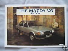 1982 Mazda 323 Saloon Brochure Pub.No. 323S/82/1