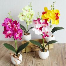Artificial Flowers Fake Bouquet Butterfly Orchid Bridal Plant Bonsai Home Decor
