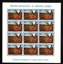 FOGLIETTO IPZS MOSTRA ANTOLOGICA ANTONIO LIGABUE  1980 COMPOSTO 12 FRANCOBOLLI