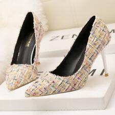 zapatos de salón mujer 10 cm elegantes tacón aguja colores beige como piel 9634