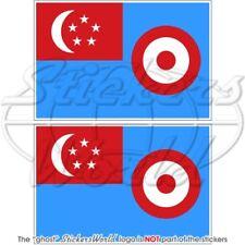 SINGAPUR Luftwaffe RSAF 1968-73 Flagge SINGAPURISCHEN Fahne Sticker Aufkleber