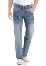4wards worker jeans Nuovo W31, W32, W33, W34/L36 Uomo Blu denim dritto
