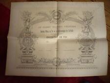 DIPLOME 1890 LAVAUR CONCOURS DE TIR ET GYMNASTIQUE