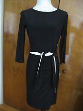 Lauren Ralph Lauren women's black dress with material black white belt  2 4 16