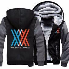 New DARLING in the FRANXX Cosplay Jacket Sweatshirts Thicken Hoodies Zipper Coat