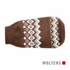 Wolters Norweger Hunde Pullover braun/weiß, diverse Größen, NEU