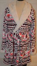 Women's Rue 21 Geo Owl Love So So Soft Plush Hooded Robe Sizes S - 3XL