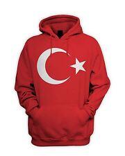 Turkish Flag Men's Hoodie - Hooded Sweatshirt Turkey Football T-Shirt