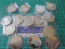 UK-Nachweis 50 Pence 50p Neuzustand! 1970 -2016 wählen sie ihr jahr GEBURTSTAG