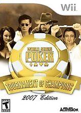 World Series Of Poker: Tournament Of Champions (Nintendo Wii, 2006) Brand New