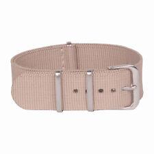 18mm 20mm 22mm 24mm NATO Solid Beige Man Women Nylon Watch Strap Wristwatch Band