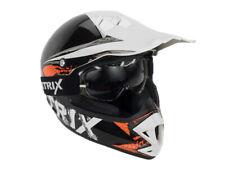 Kinder Motocross Helm Sturzhelm Airtrix Kid-Star mit Brille klares Visier