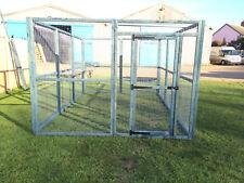 Large 12ft x 8ft Blue Animal Run Dog Cat Rabbit Chicken Puppy Enclosure Pen 16G