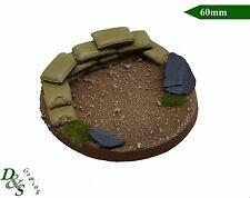 60mm Base Redonda de resina escénico-equipo de arma pesada Astra militarum Imperial guard