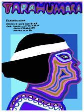 Taraumara Mexican vintage Movie POSTER.Graphic Design. Blue Art Decoration.3694