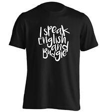 I speak English and budgie t-shirt animal pet bird funny gift quote tumblr 2555